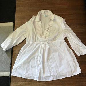 Large white MotherhoodMaternity blouse used